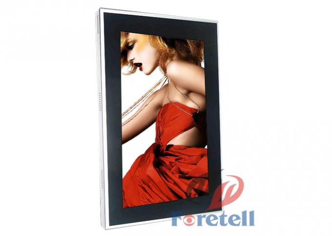 Electronic Signage Display Wall Mounted Digital Signage With Touch Screen Metal Case