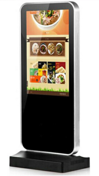10 Inch Small Size LG Vertical Screen Free Standing Digital Tablet Display