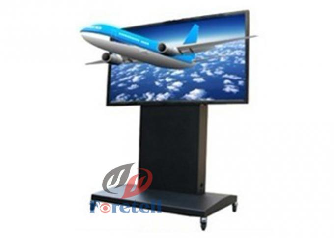 65 Inch Floor Standing 3D Digital Signage , Vertical Lcd Screen Subway Digital Signage