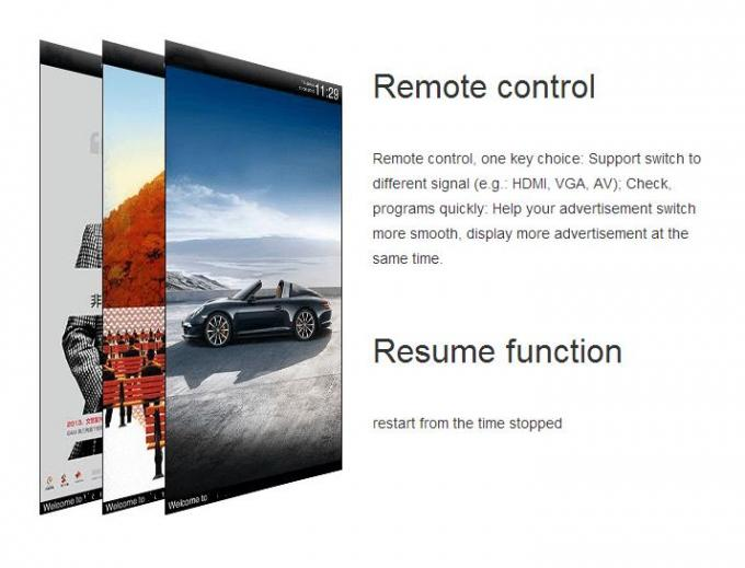 Interactive 1080p Lcd Magic Mirror Display , Stand Alone Digital Signage Touch Screen