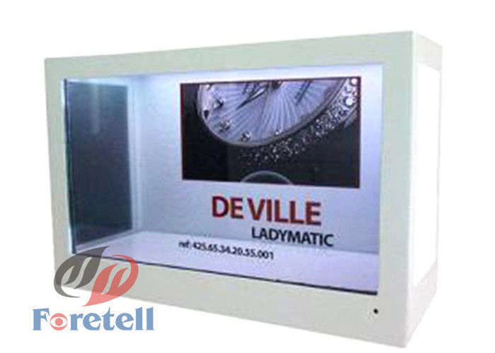 TFT Lcd Panel Transparent LCD Display Advertising Machine 100 ~ 240V Power Supply