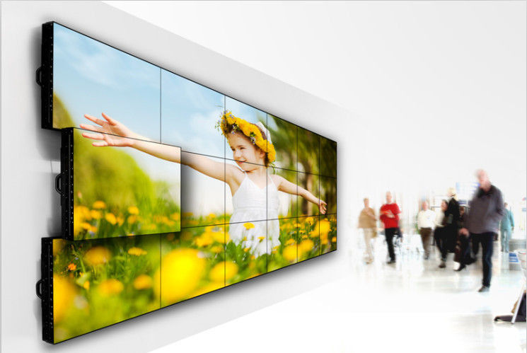 1 7Mm 0 9mm Bezel Lcd Video Wall Display , Large Samsung
