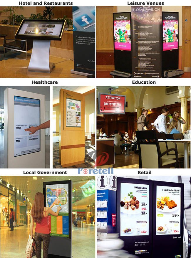 Infrared Interactive Touch Screen Kiosk Vertical LCD Display 32 Inch